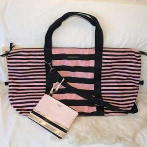 Victoria's Secret Weekender Tote and Clutch XL